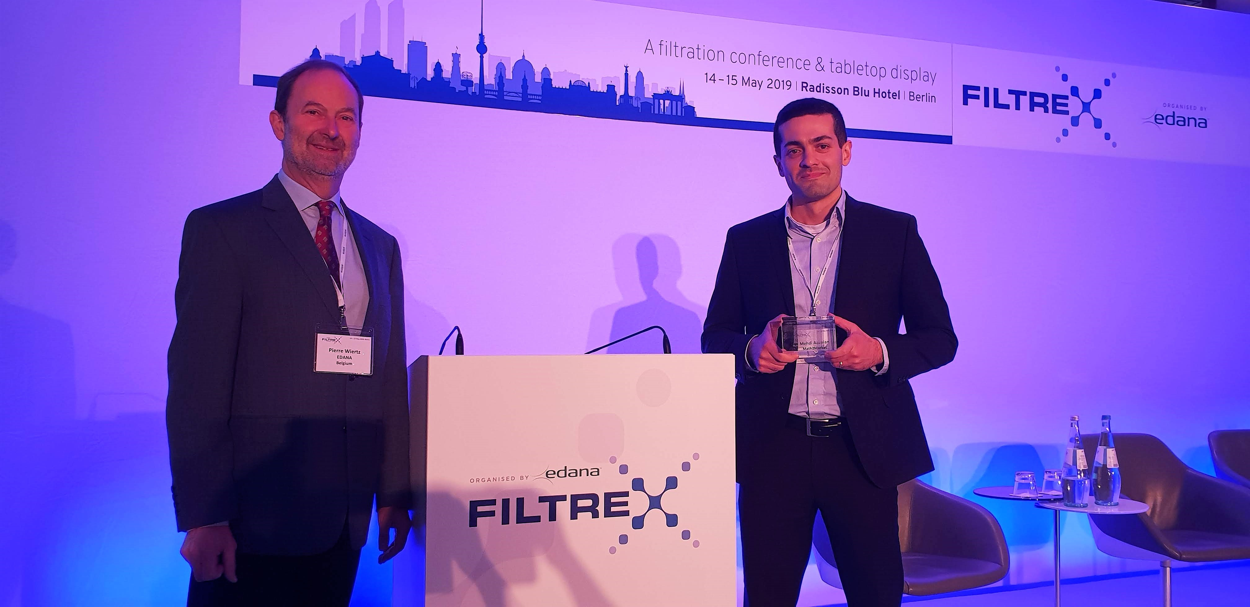 FILTREX Innovation Award 2019 winner